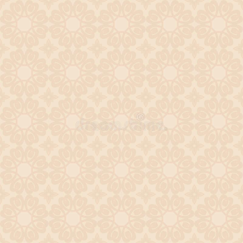 Teste padrão geométrico bege claro ilustração stock