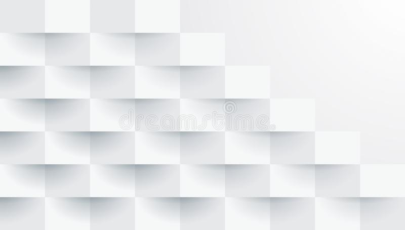 Teste padrão geométrico branco, molde abstrato do fundo ilustração royalty free