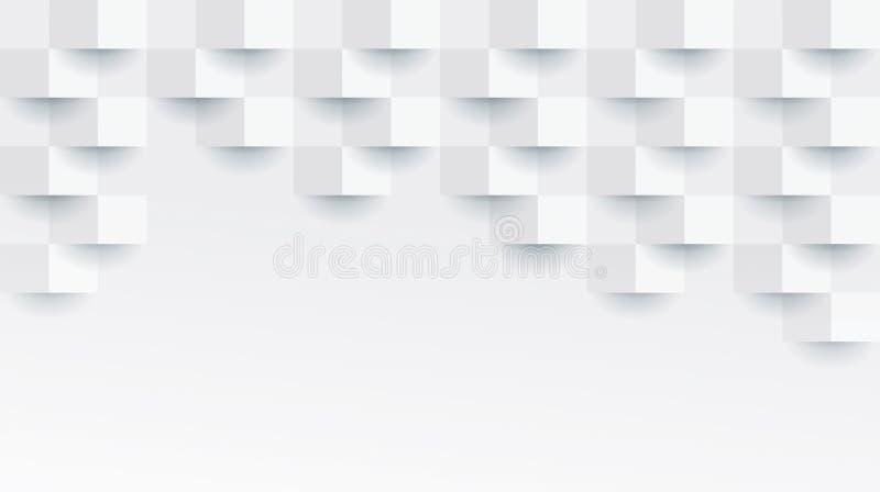 Teste padrão geométrico branco, molde abstrato do fundo ilustração do vetor