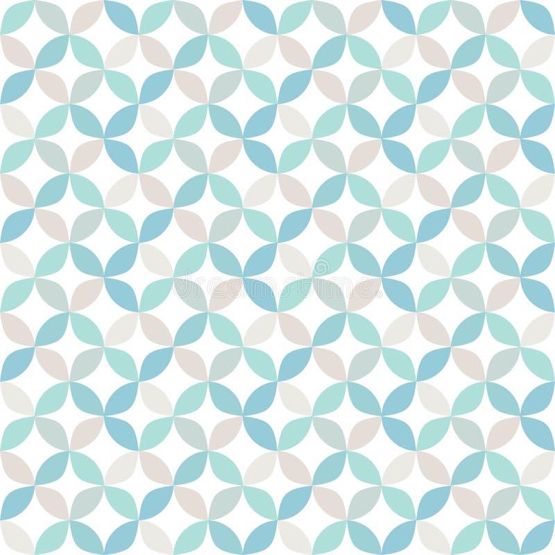 Teste padrão geométrico brilhante sem emenda do círculo ilustração do vetor