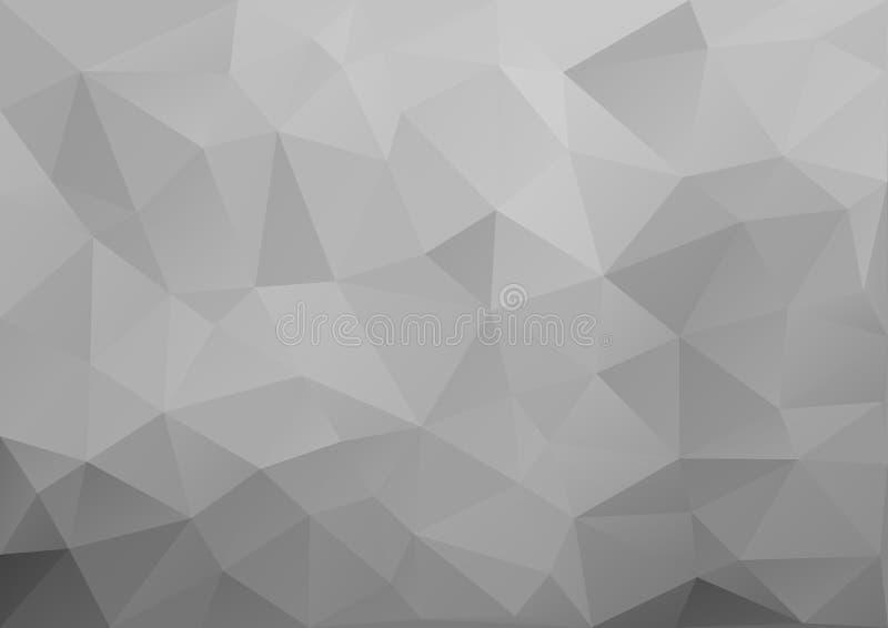 Teste padrão geométrico cinzento ilustração stock