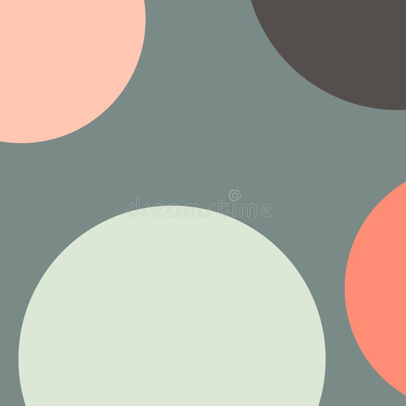 Teste padr?o geom?trico com c?rculos no estilo abstrato Projeto moderno do vetor do molde Cor brilhante Teste padr?o moderno gr?f ilustração stock