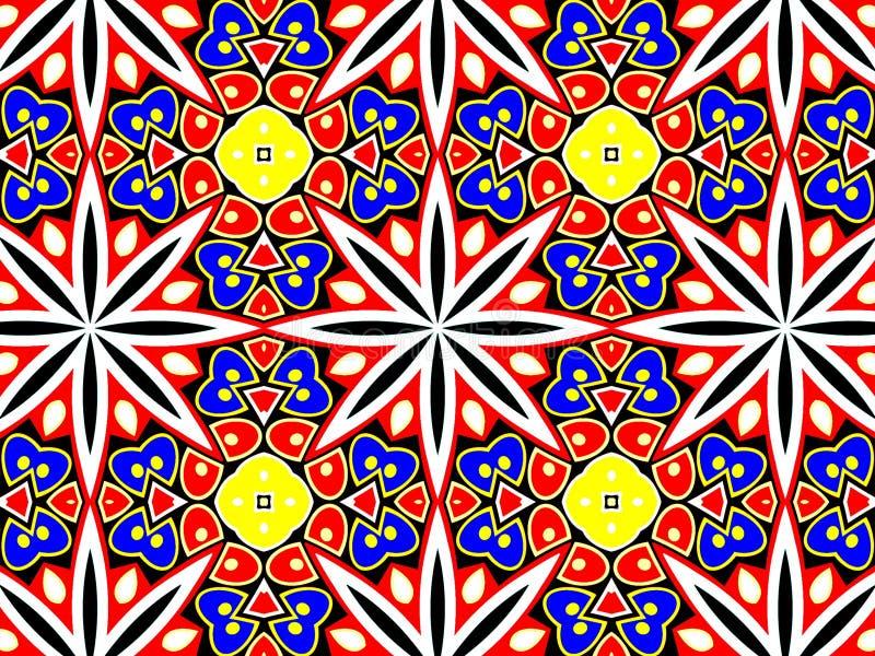 Teste padrão geométrico com muitas pétalas imagens de stock