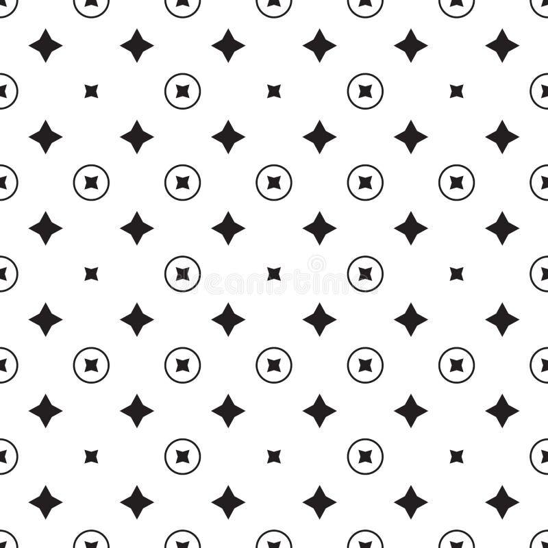 Teste padrão geométrico da estrela Vetor sem emenda ilustração royalty free