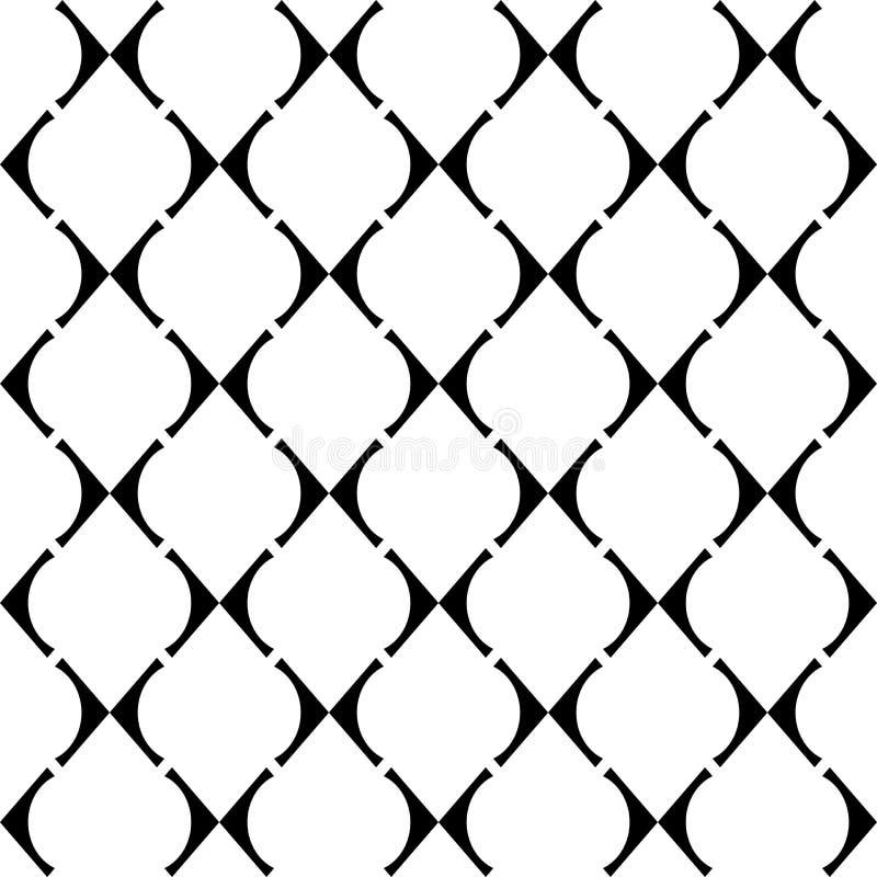 Teste padrão geométrico da grade sem emenda do projeto ilustração royalty free