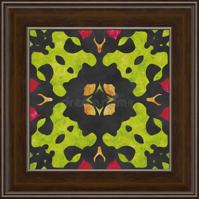 Teste padrão geométrico da natureza da arte finala do quadro Pintura a óleo na lona ilustração do vetor
