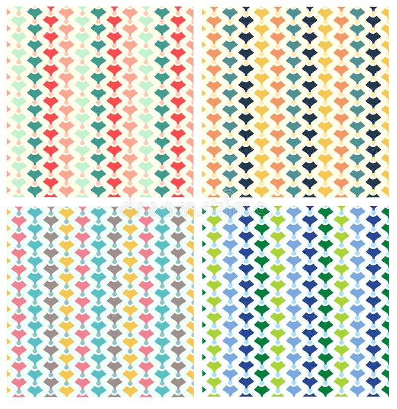 Teste padrão geométrico da repetição fotos de stock