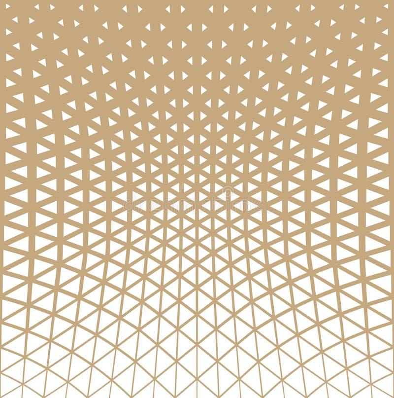 Teste padrão geométrico da reticulação do projeto do triângulo do ouro abstrato ilustração do vetor