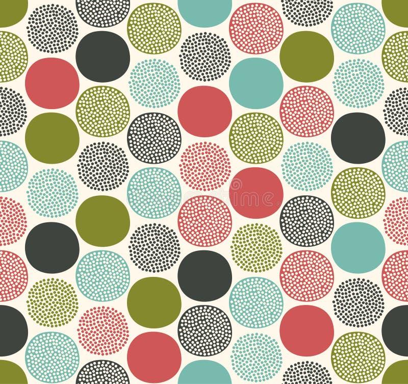Teste padrão geométrico da textura sem emenda dos pontos ilustração stock