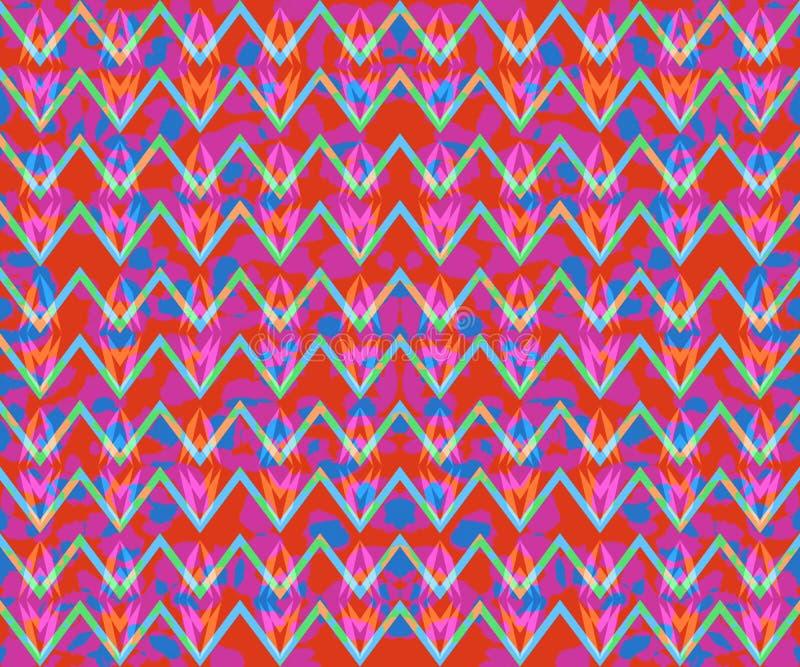 Teste padrão geométrico de Boho ilustração royalty free