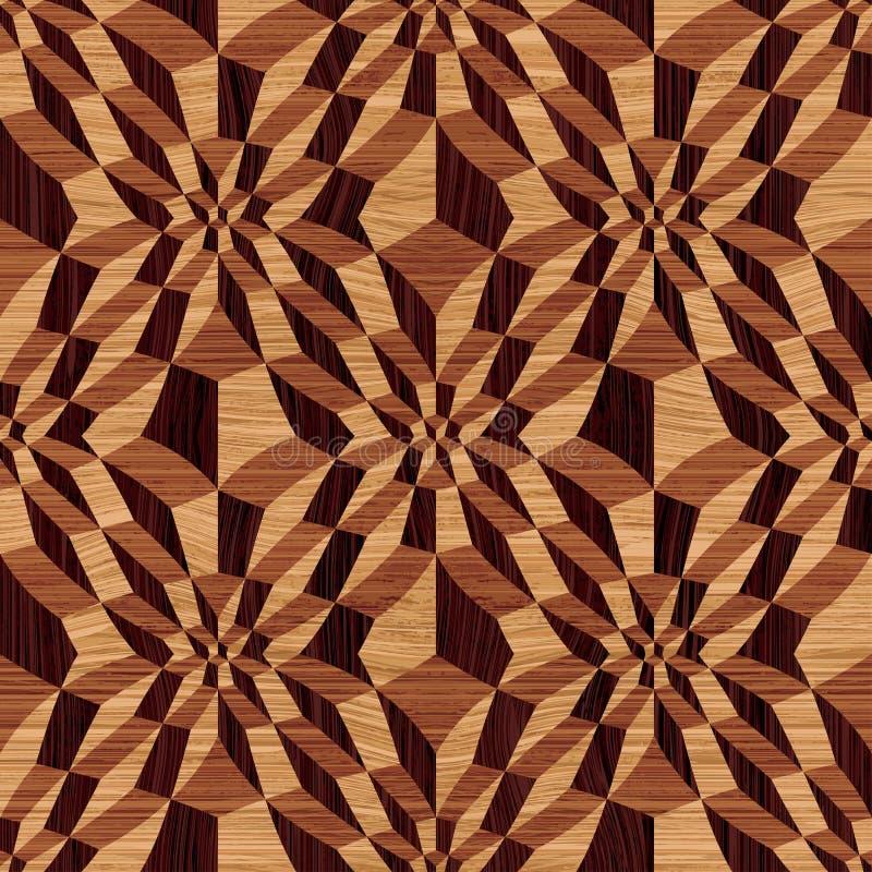Teste padrão geométrico de madeira ilustração stock