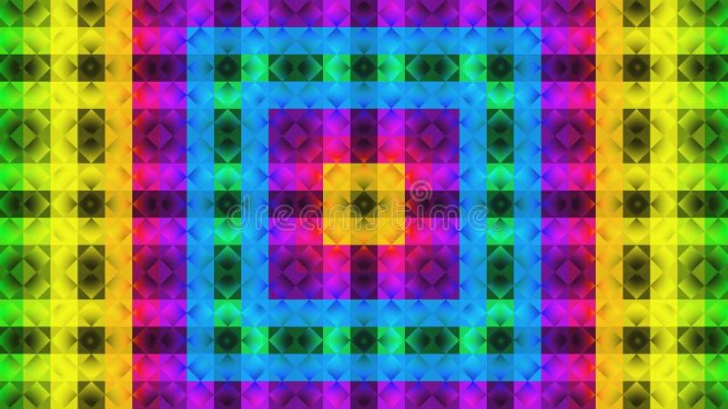 Teste padrão geométrico de matéria têxtil Teste padrão colorido ilustração do vetor