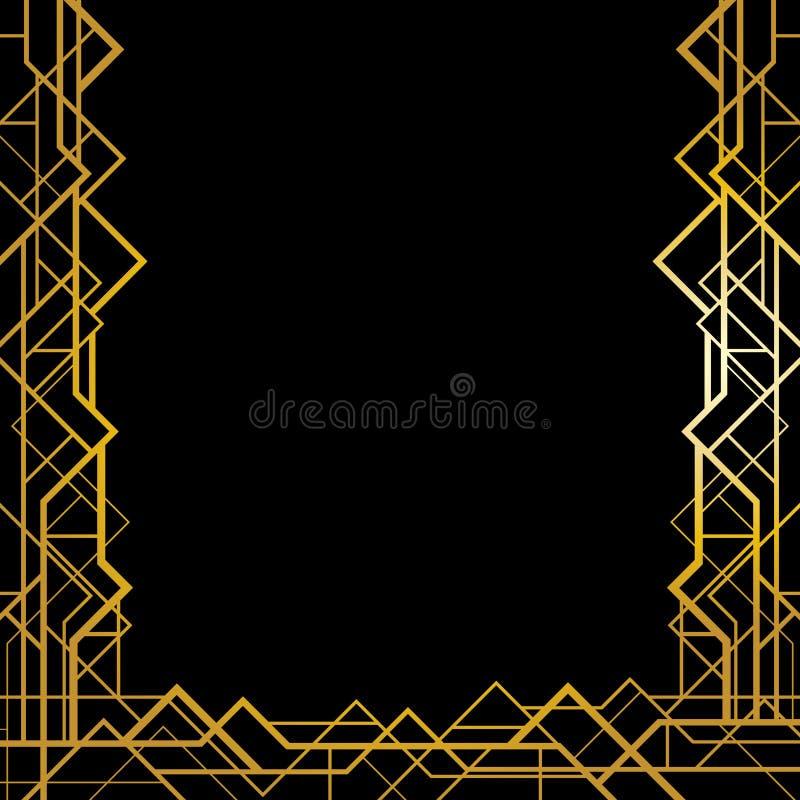 Teste padrão geométrico do art deco ilustração stock