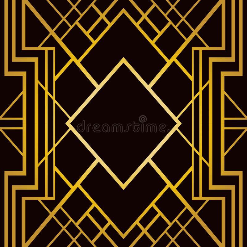 Teste padrão geométrico do art deco