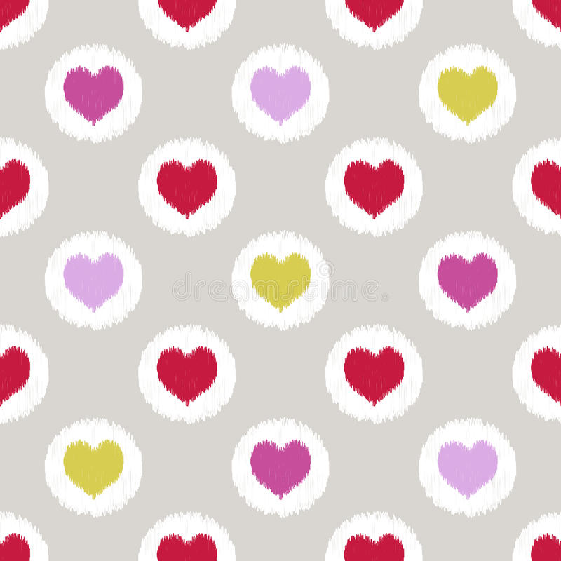 Teste padrão geométrico do coração sem emenda ilustração royalty free