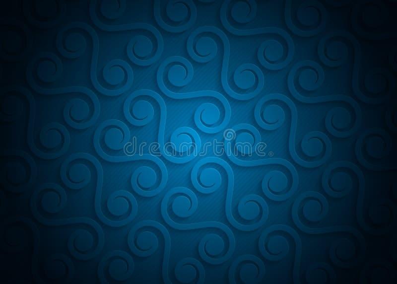 Teste padrão geométrico do papel azul, molde abstrato do fundo para o Web site, bandeira, cartão, convite ilustração stock