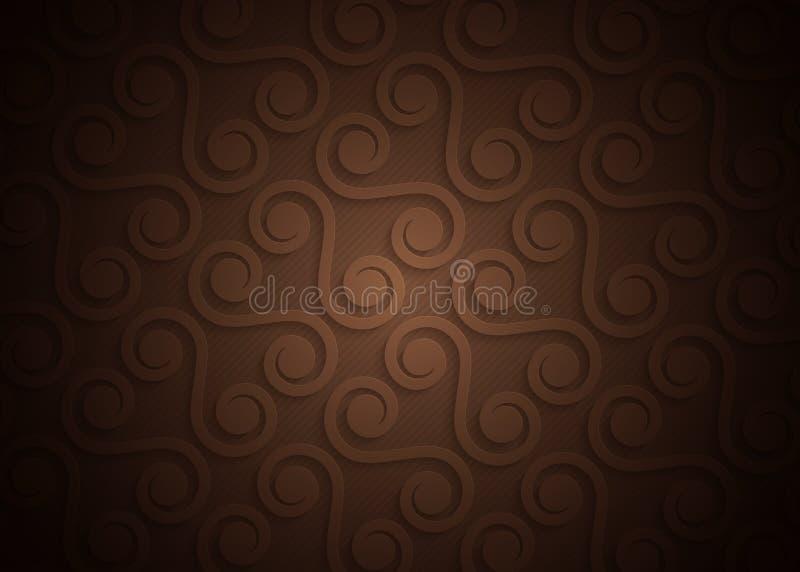 Teste padrão geométrico do papel de Brown, molde abstrato do fundo para o Web site, bandeira, cartão, convite ilustração stock