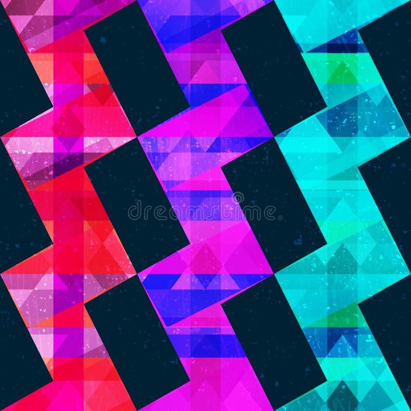 Teste padrão geométrico do patternNeon geométrico de néon ilustração do vetor