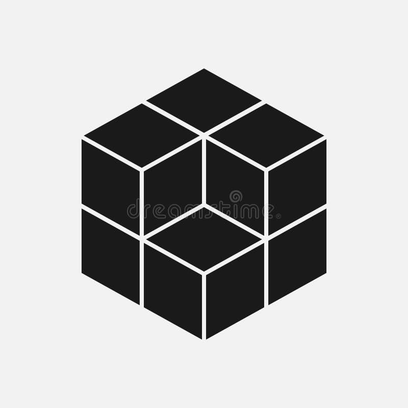 teste padrão geométrico do sinal do cubo Projeto gráfico da forma Ilustração do vetor Projeto do fundo Textura abstrata à moda mo ilustração do vetor