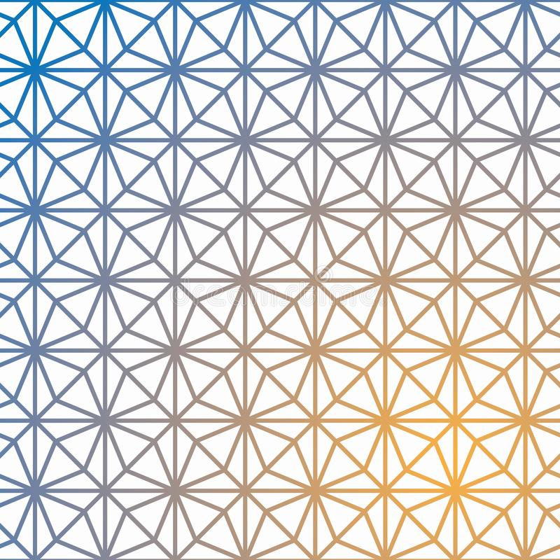 Teste padrão geométrico do vetor da grade Cubo geométrico, efeito da estrela ilustração stock