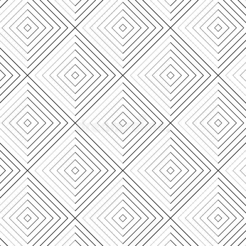 Teste padrão geométrico do vetor, repetindo a forma linear corajosa e fina do rombo O teste padrão está limpo para o projeto, tel ilustração stock