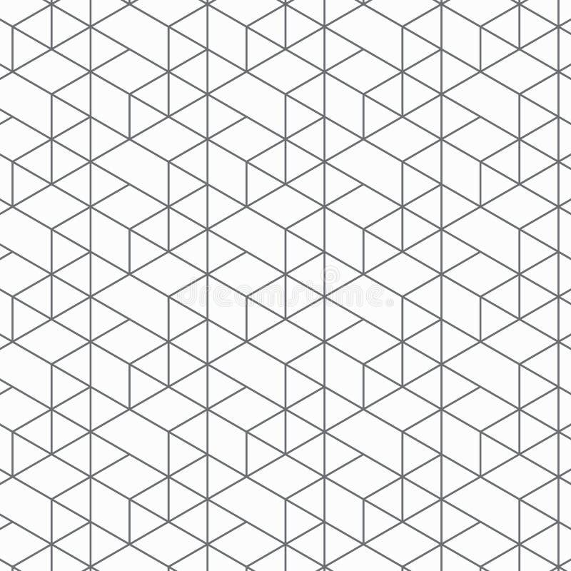 Teste padrão geométrico do vetor, repetindo o triângulo linear, a forma quadrada do diamante, a forma da seta, o rombo e os nós ilustração stock