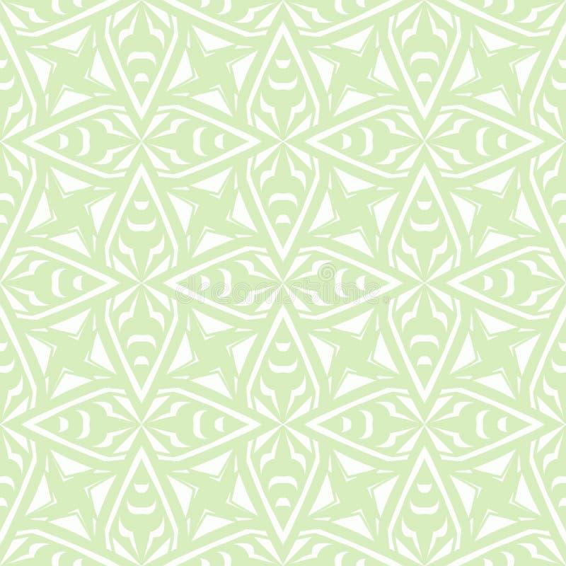 Teste padrão geométrico do vintage do art deco no branco ilustração stock