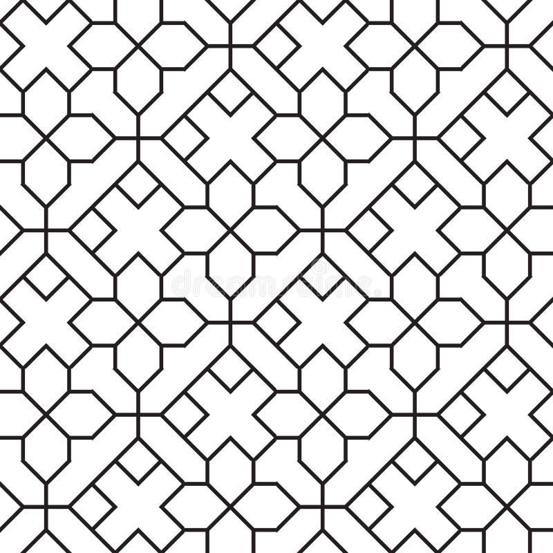 Teste padrão geométrico do vintage sem emenda ilustração do vetor