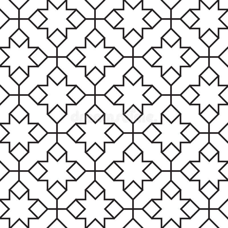 Teste padrão geométrico do vintage sem emenda ilustração stock