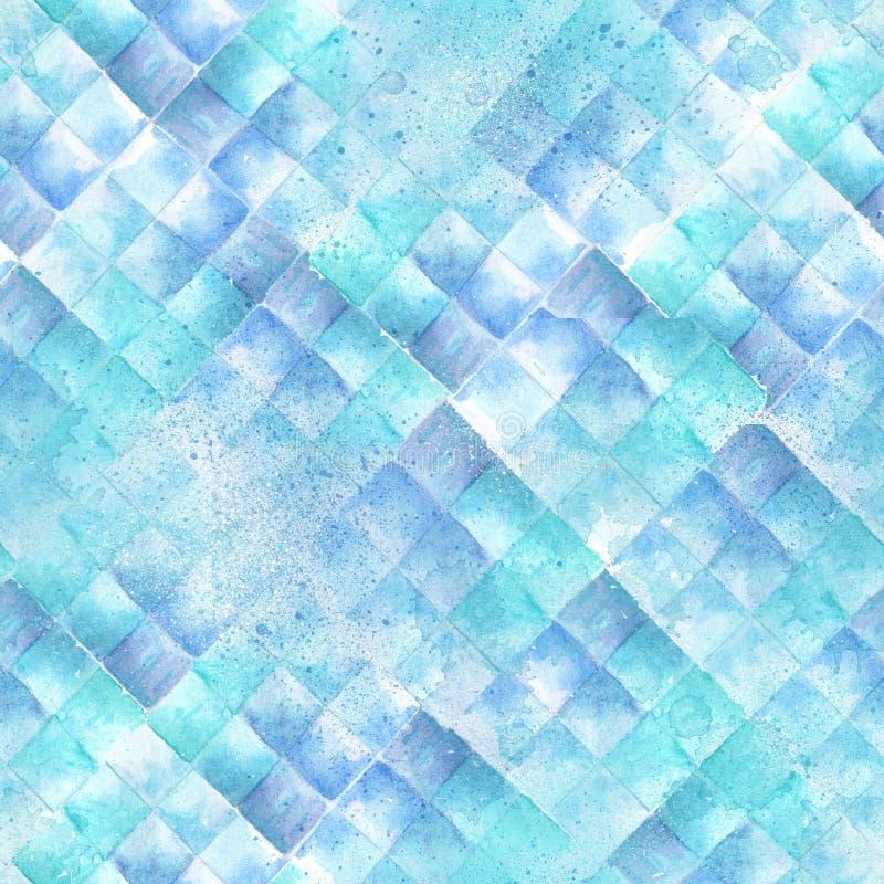 Teste padrão geométrico do Watercolour foto de stock