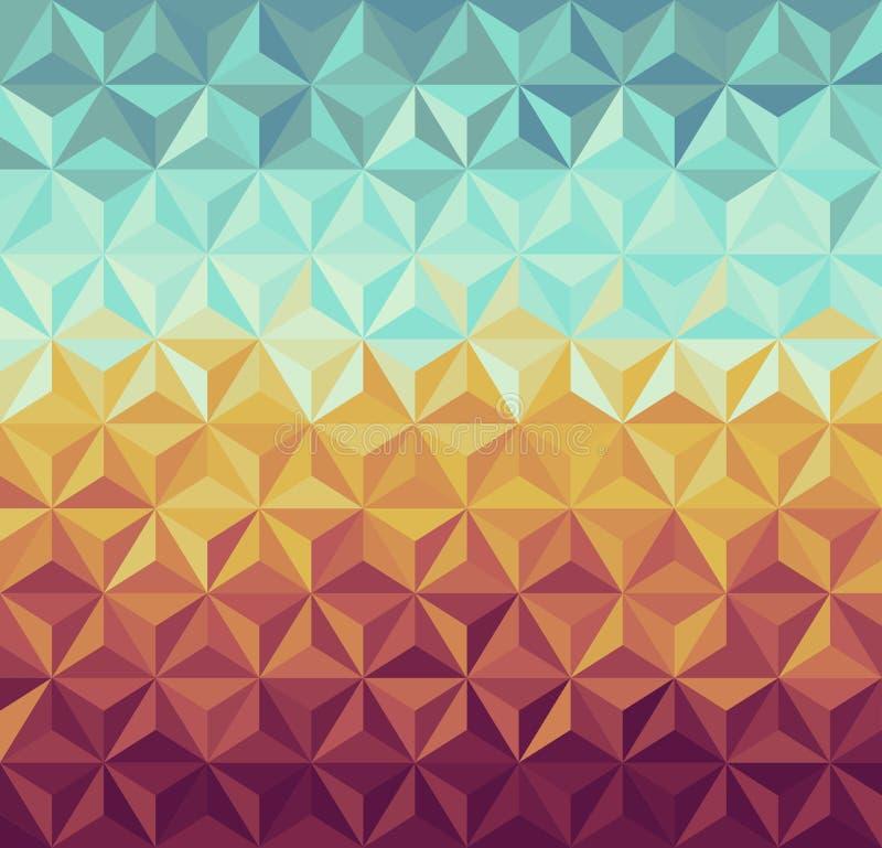 Teste padrão geométrico dos modernos retros. ilustração stock