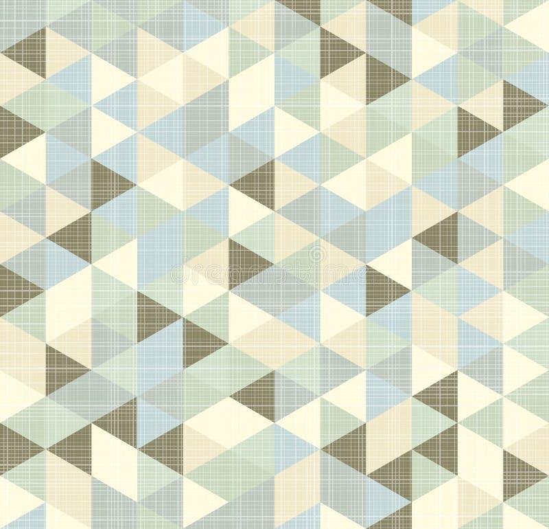 Teste padrão geométrico dos triângulos com listras ilustração stock