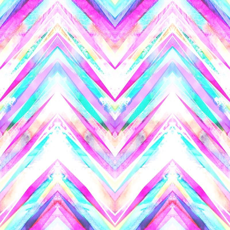 Teste padrão geométrico feito a mão sem emenda ilustração royalty free