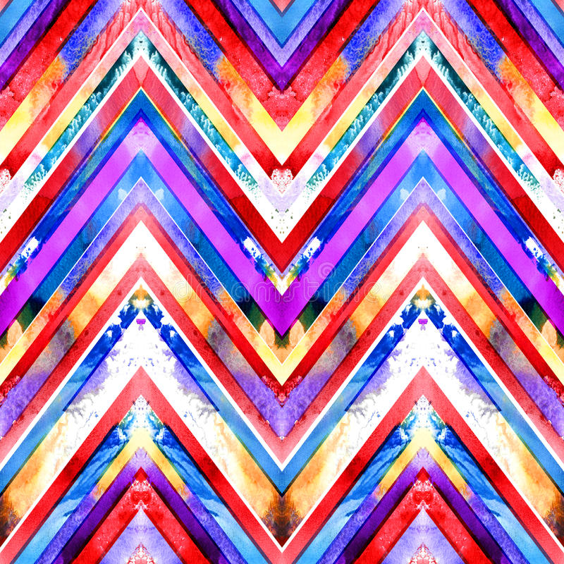 Teste padrão geométrico feito a mão sem emenda ilustração stock