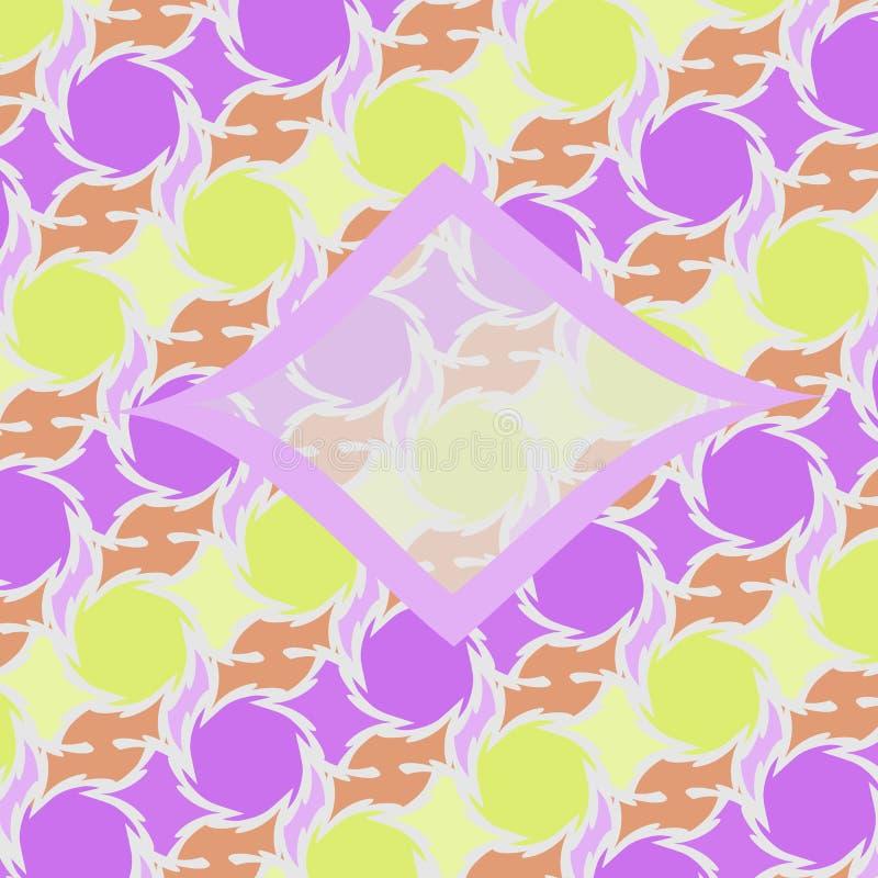 Teste padrão geométrico floral abstrato de Netrivail, fundo ilustração do vetor