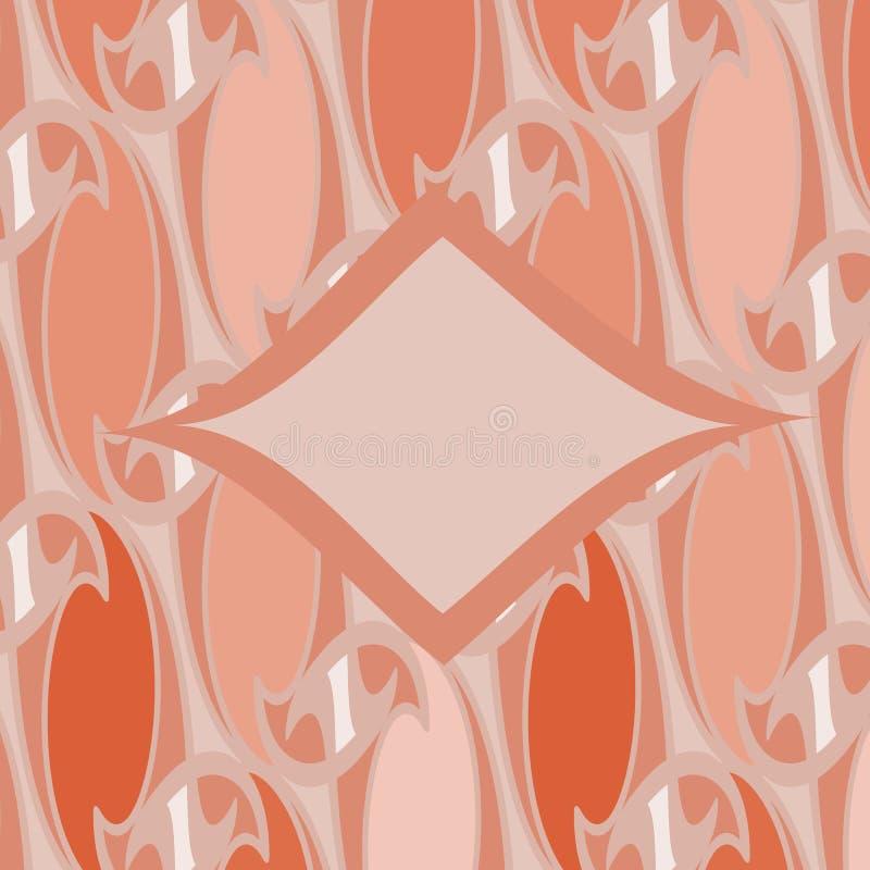 Teste padrão geométrico floral abstrato de Netrivail, fundo ilustração stock