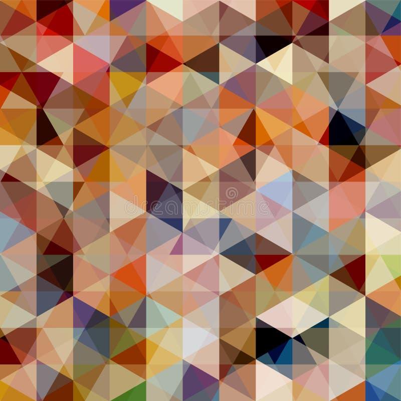 Teste padrão geométrico, fundo do vetor dos triângulos ilustração royalty free