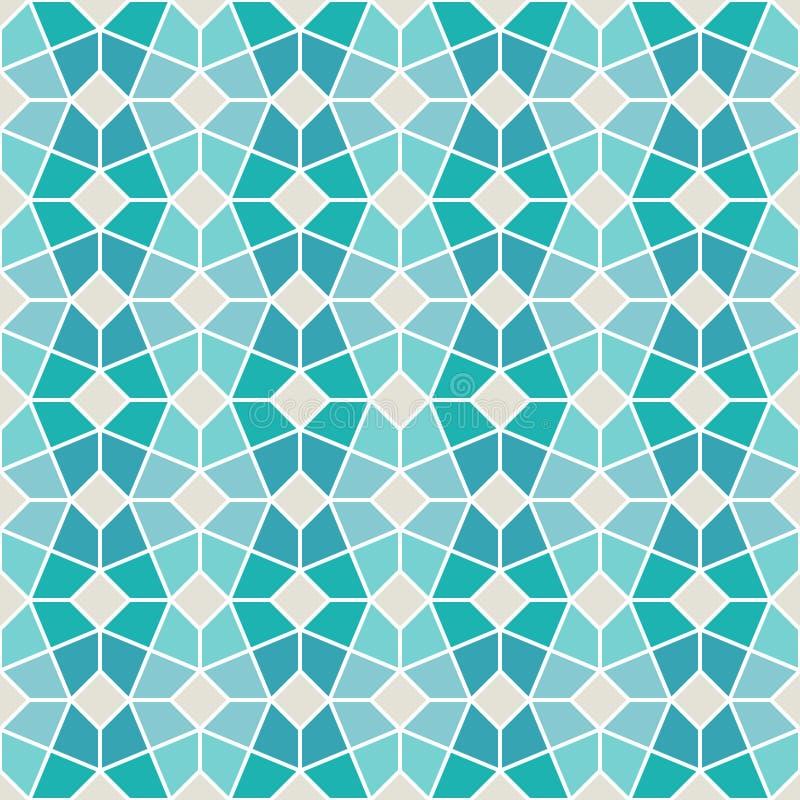 Teste padrão geométrico intrincado ilustração stock