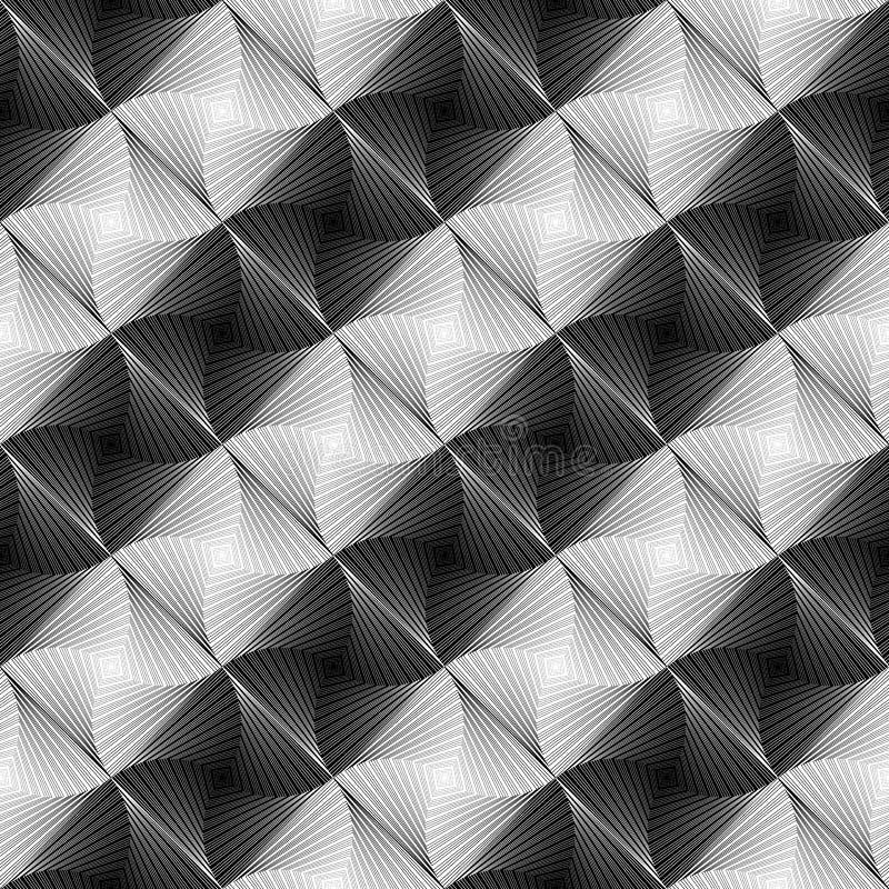 Teste padrão geométrico listrado do redemoinho sem emenda do projeto ilustração royalty free
