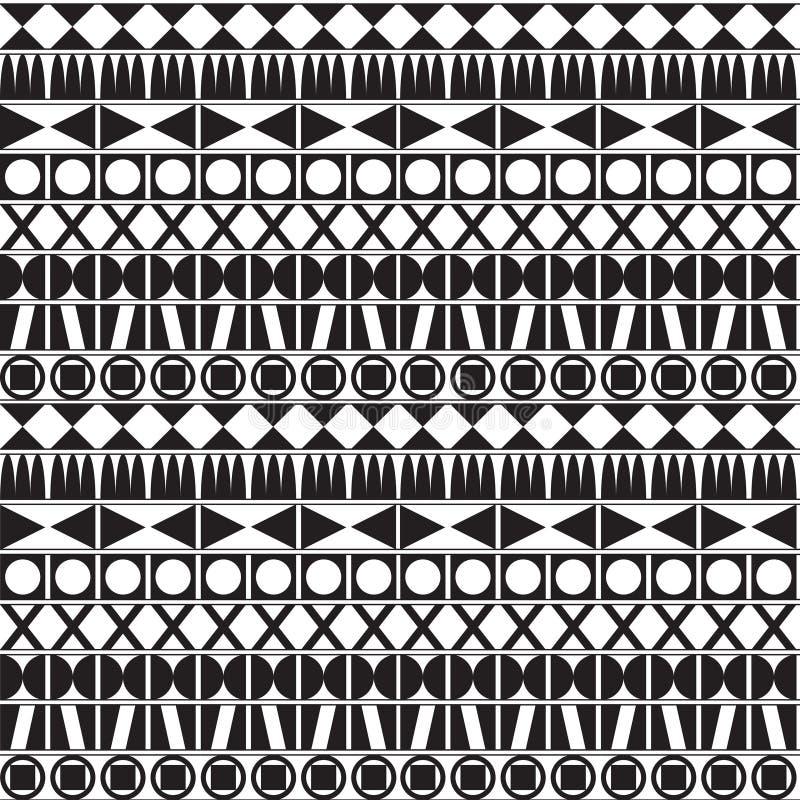 Teste padrão geométrico monocromático ilustração stock