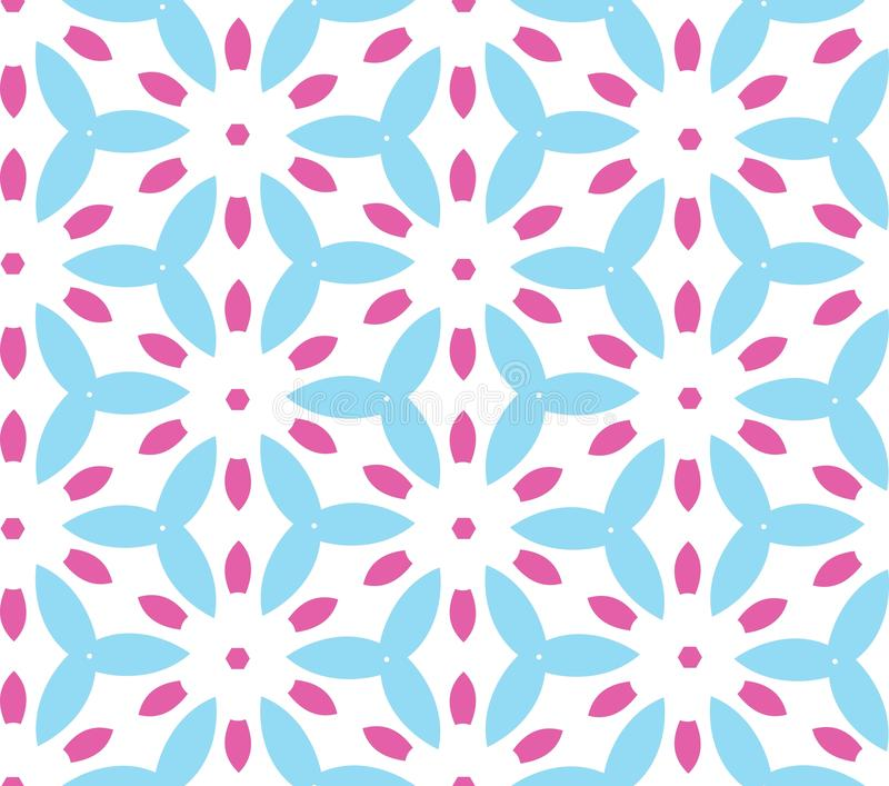 Teste padrão geométrico multicolorido na cor brilhante ilustração royalty free