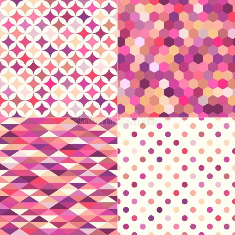 Teste padrão geométrico multicolorido sem emenda das telhas ilustração stock