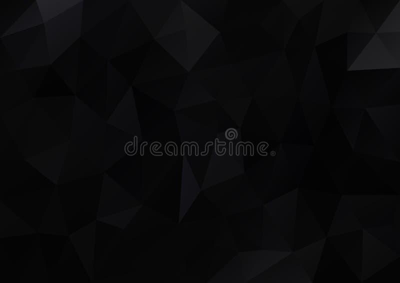 Teste padrão geométrico preto ilustração stock