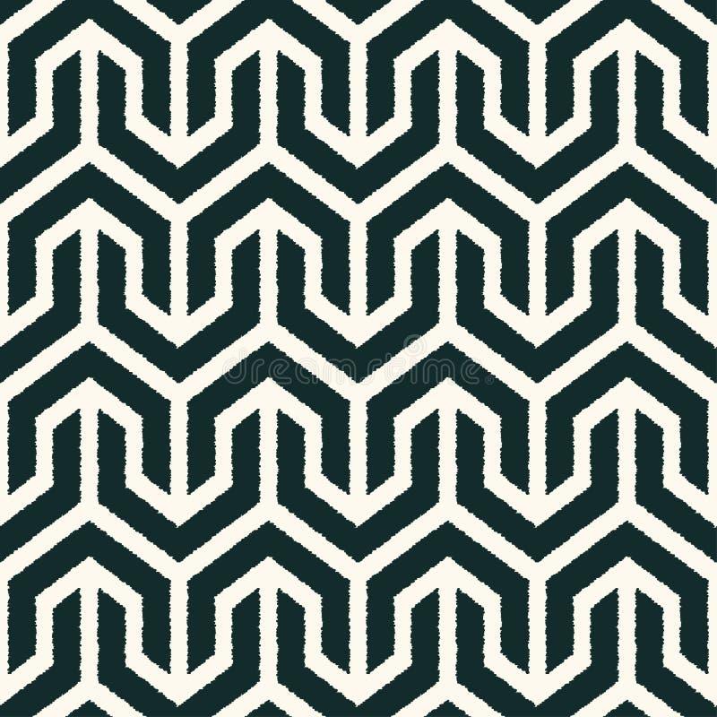 Teste padrão geométrico preto e branco sem emenda ilustração royalty free