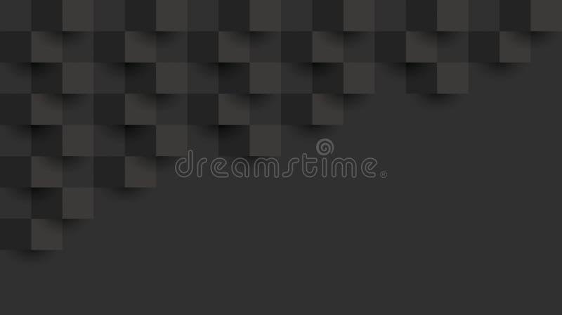 Teste padrão geométrico preto, molde abstrato do fundo ilustração stock