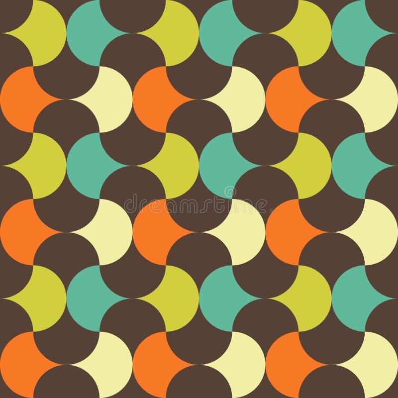 Teste padrão geométrico retro abstrato ilustração stock