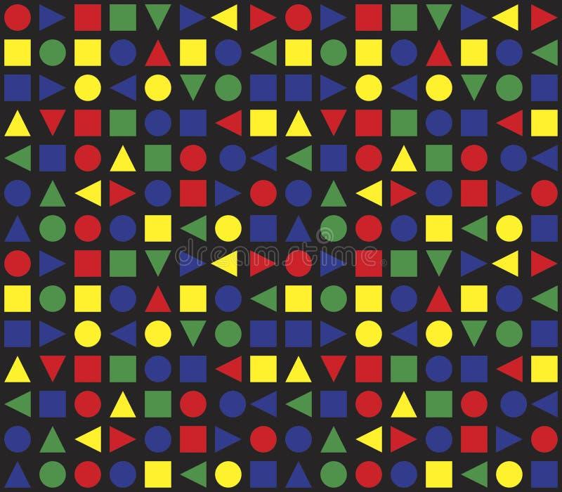 Teste padrão geométrico retro sem emenda ilustração do vetor
