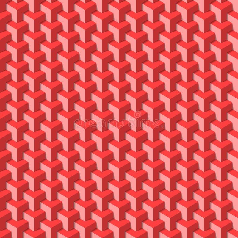 Teste padrão geométrico sem emenda ilustração do vetor
