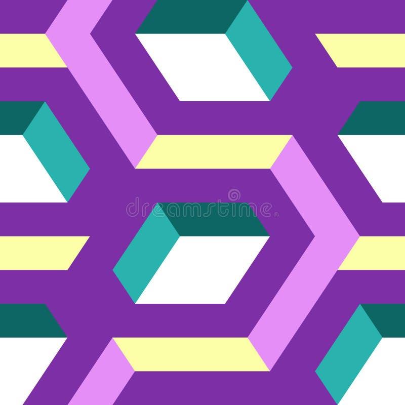 Teste padrão geométrico sem emenda abstrato ilustração royalty free