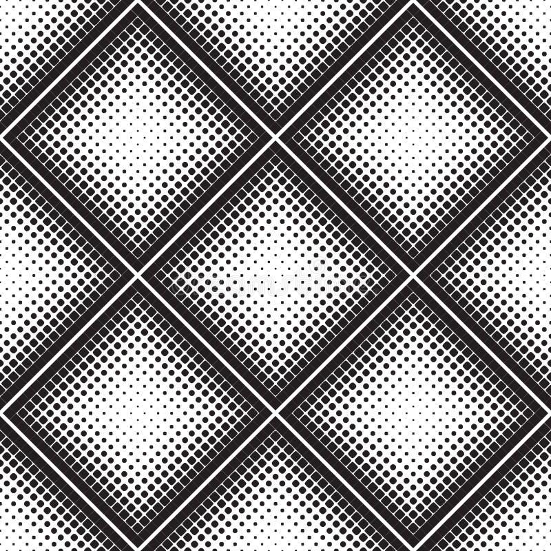 Teste padrão geométrico sem emenda abstrato das figuras de tamanhos diferentes ilustração royalty free